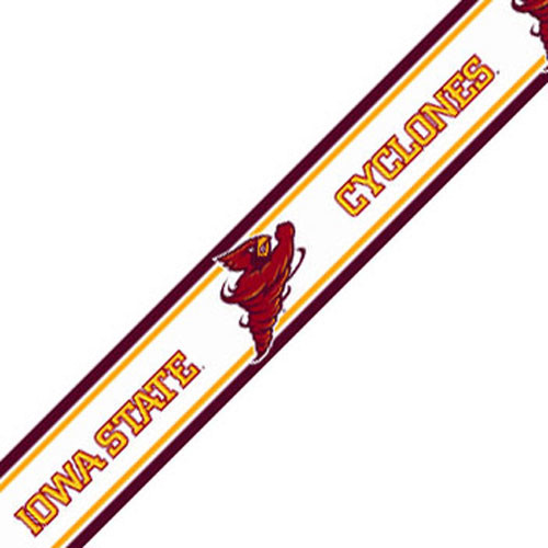 NCAA Iowa State Cyclones Prepasted Wallpaper Border Roll contemporary 500x500
