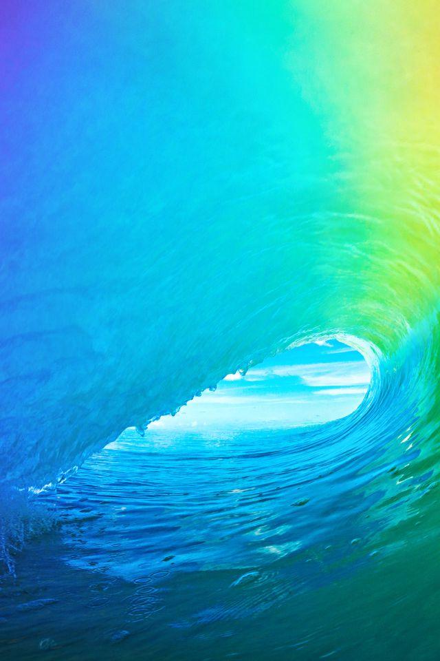 iOS 9 Default Wallpaper ios9 nature wave iphone wallpaper 640x960