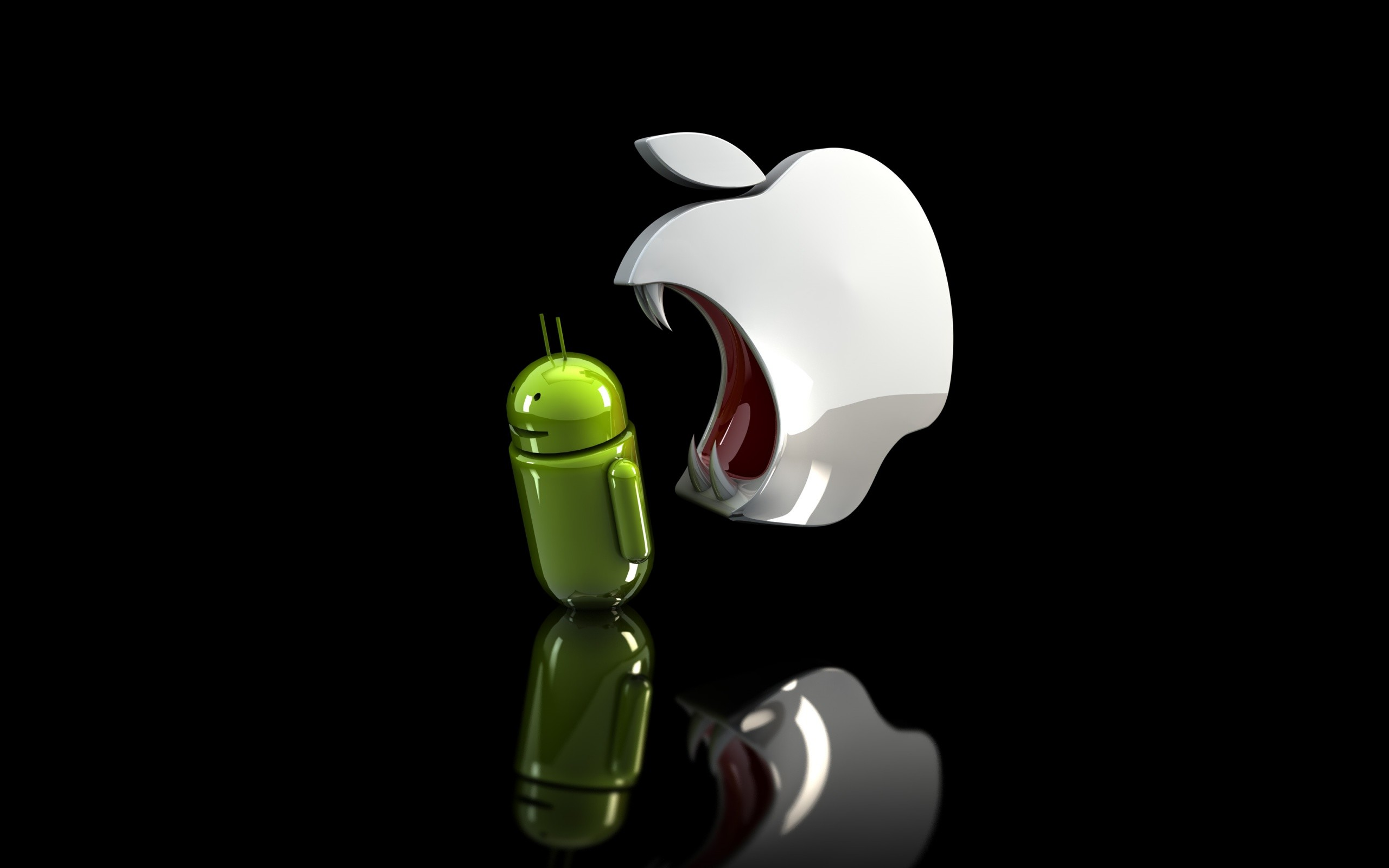 Cool Android Vs Apple Desktop HD Wallpaper 2560x1600