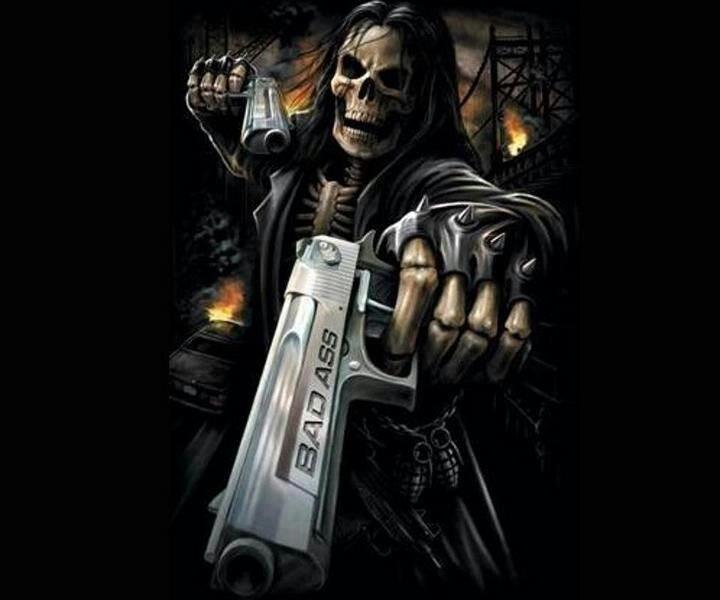 Skull Guitar Wallpaper Hd: Badass Grim Reaper Wallpaper