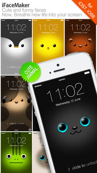 iFaceMaker Cute and funny faces for Lock screen Call screen 320x568