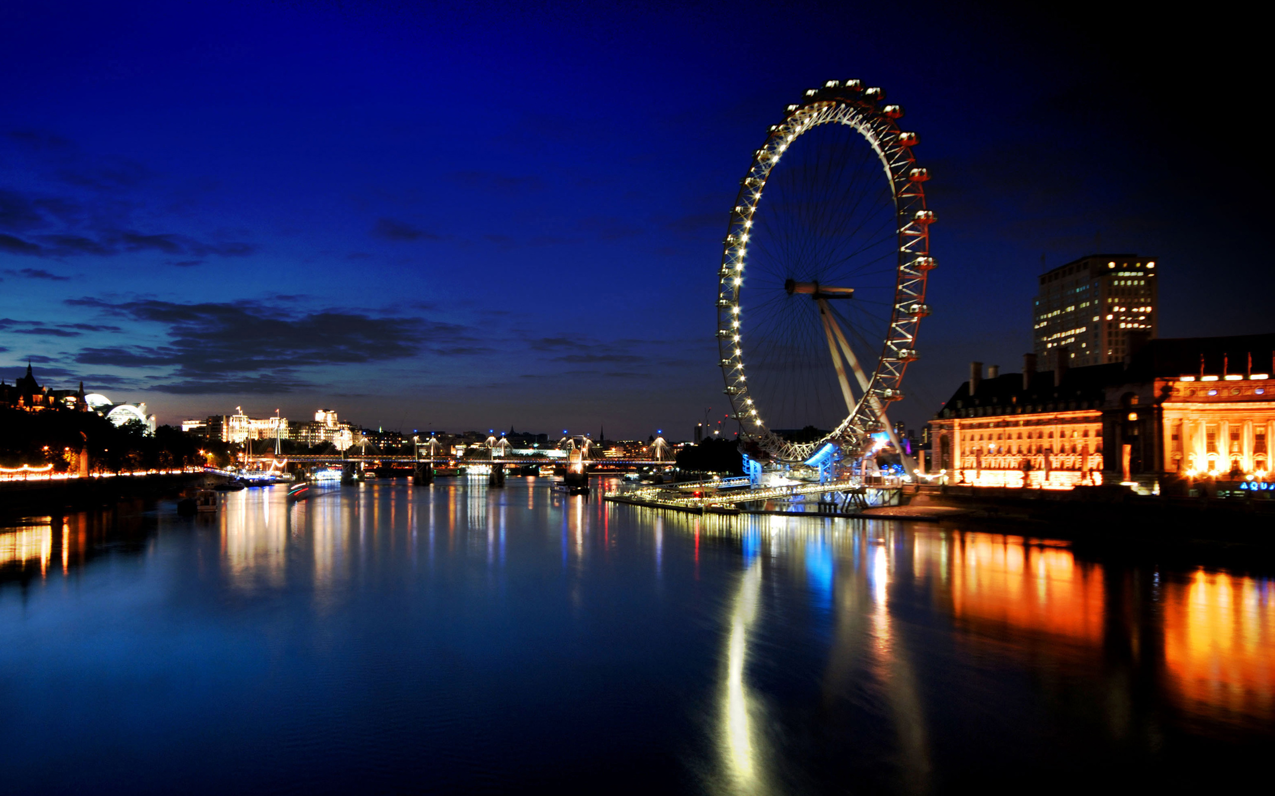 London Eye United Kingdom HD Wallpapers 2560x1600
