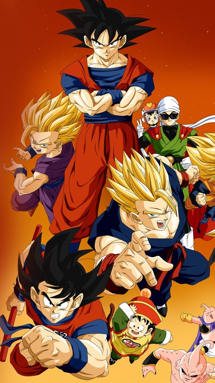 Dragon Ball Z anime HD 750x1334 iPhone 8766S wallpaper 750x1334