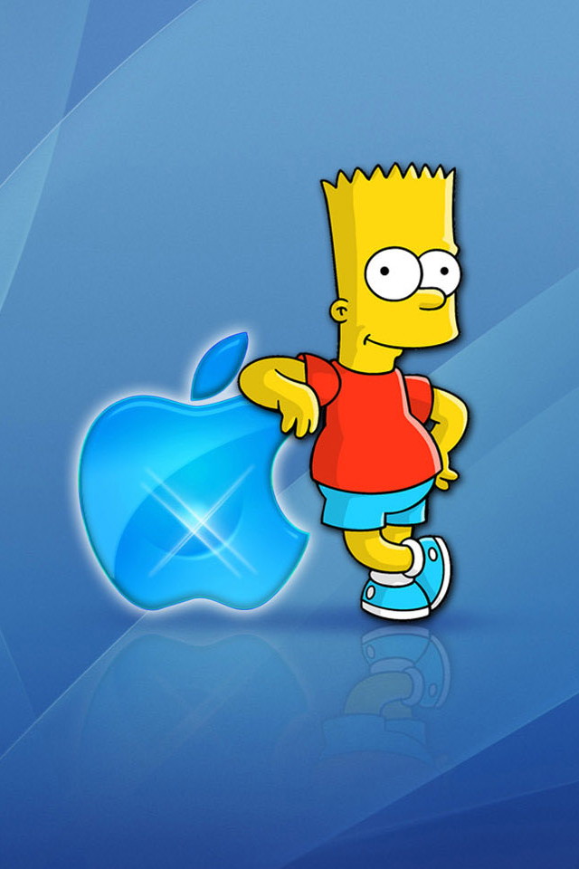 Bart Simpson Iphone 4 Wallpapers 640x960 Mobile Phone Hd Wallpapers 640x960