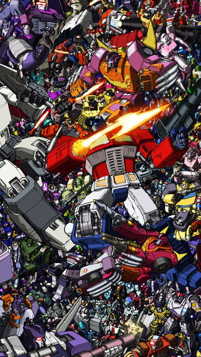 Transformers Collage iPhone 5s Wallpaper Download iPhone Wallpapers 640x1136