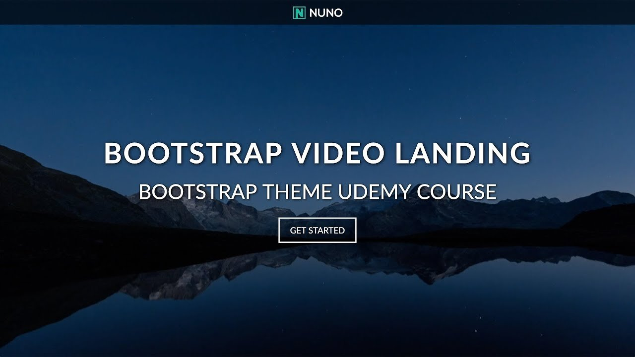 Full Screen Video Background Landing Page Website with HTML5 CSS3 1280x720