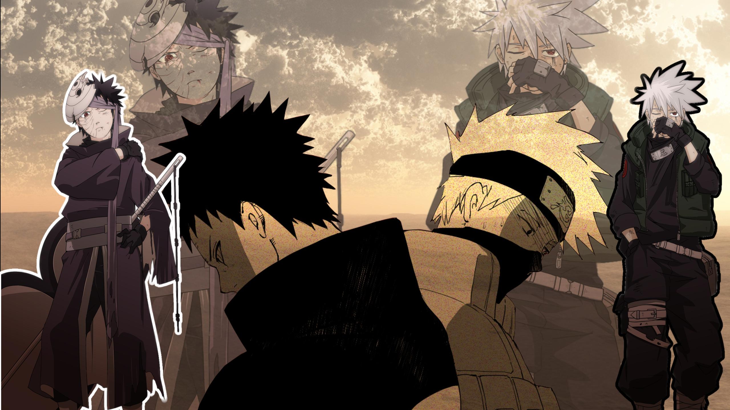 Kakashi kills Rin  Rins Death  Kakashi and Obito Unlock Mangekyou Sharingan  English Dub