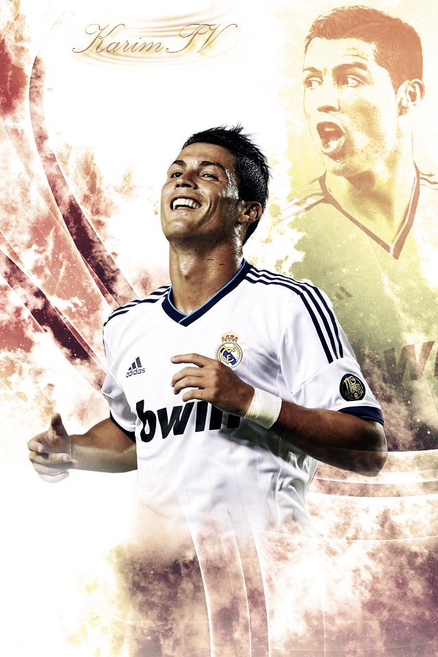 Cristiano Ronaldo   Iphone Background 2012 by eL Kira 640x960