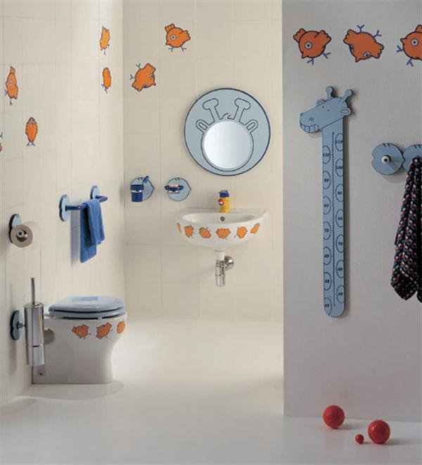 Bathroom Fun Wallpaper For Kids Bathroom Home Constructions 600x662