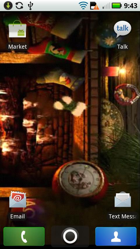 Santa Fireplace Live WALLPAPER   screenshot 480x854