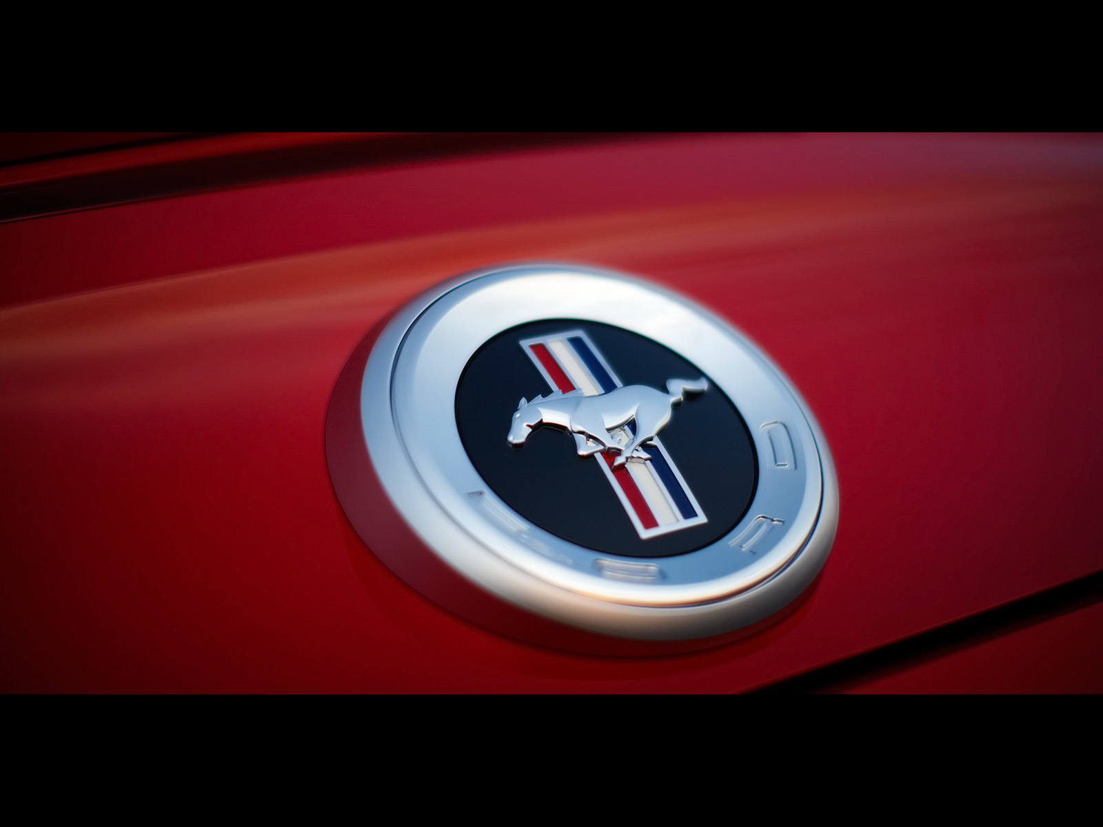 2010 Ford Mustang   Rear Emblem   1600x1200   Wallpaper 1600x1200