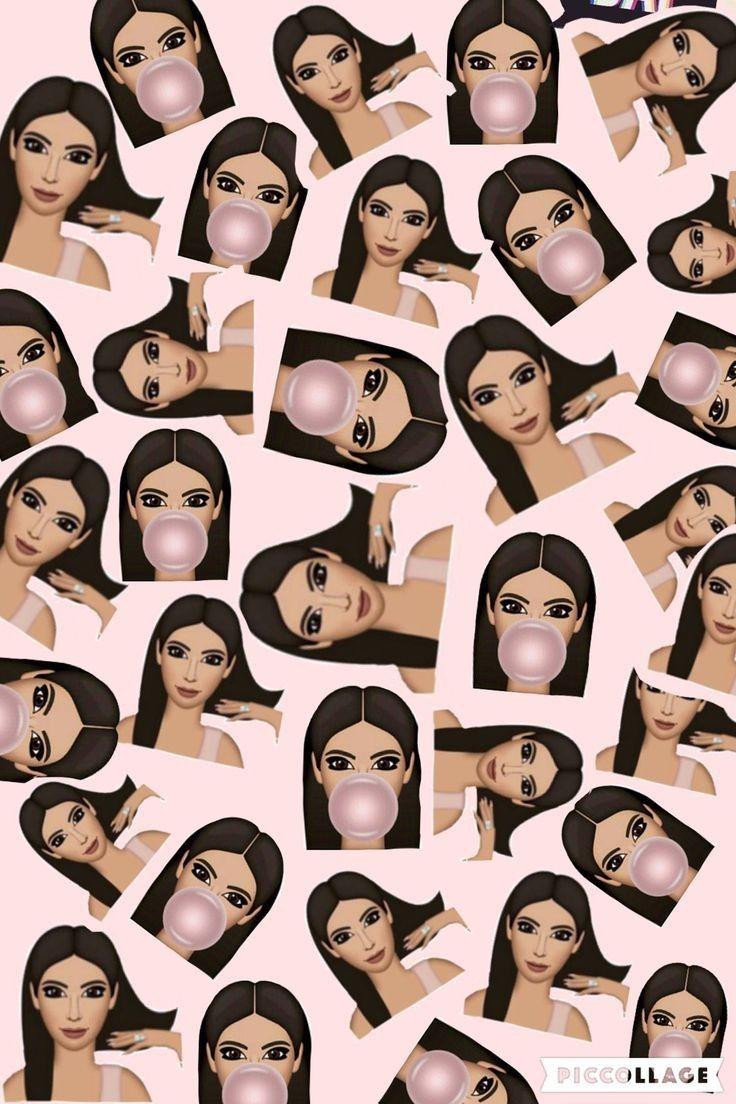 Kim Kardashian Emoji Wallpaper Kim kardashian wallpaper Emoji 736x1104