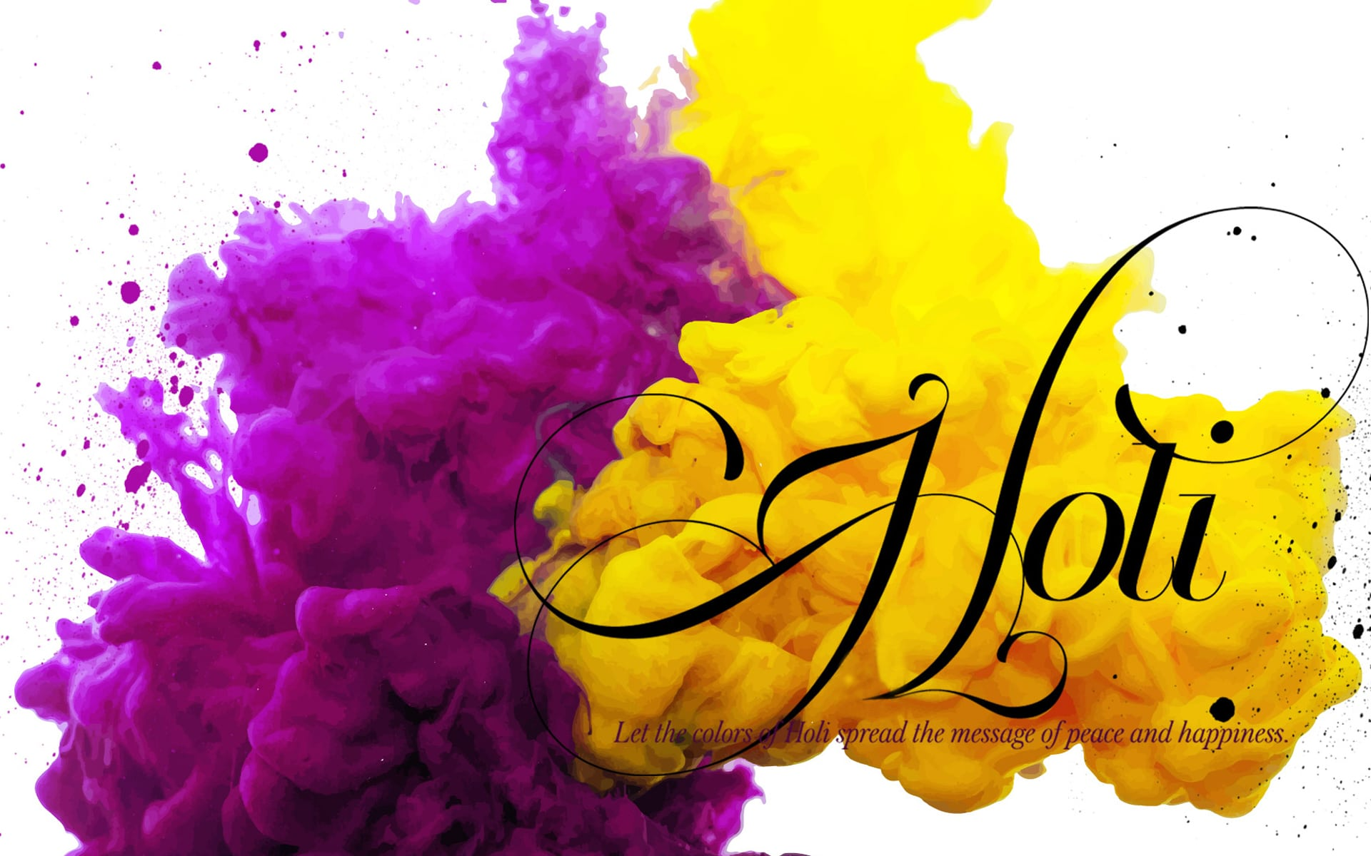 Happy Holi 2019 HD Images Wallpapers with Wishes Greeting for 1920x1200