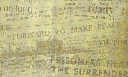 Old Newsprint Background 500x300