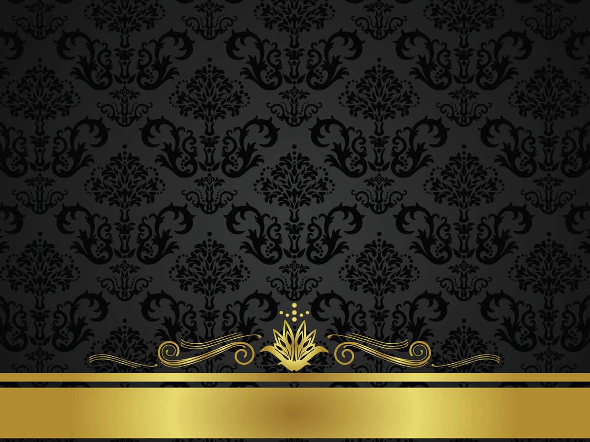 Black gold background wallpapersafari for Dark blue and gold wallpaper