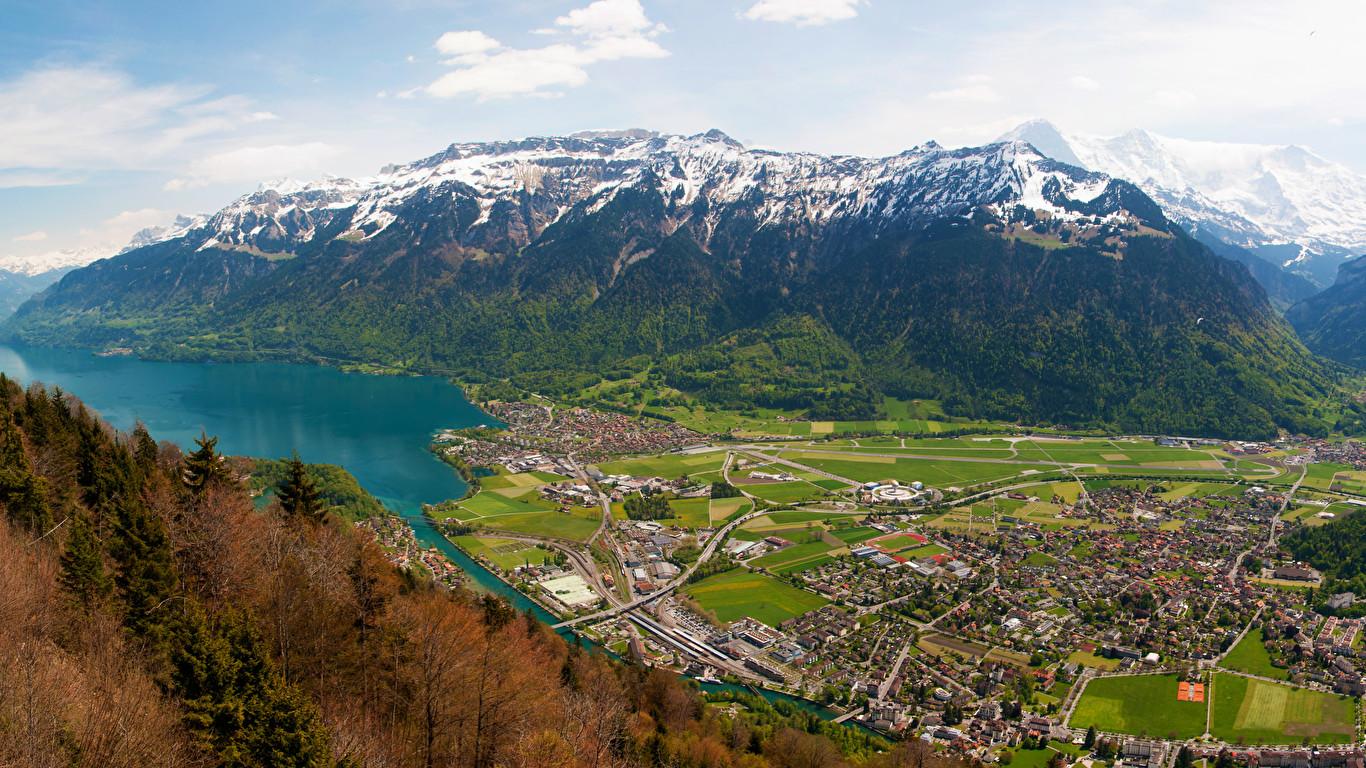 Interlaken   Switzerland   [3440x1440]   [OC] wallpapers 1366x768