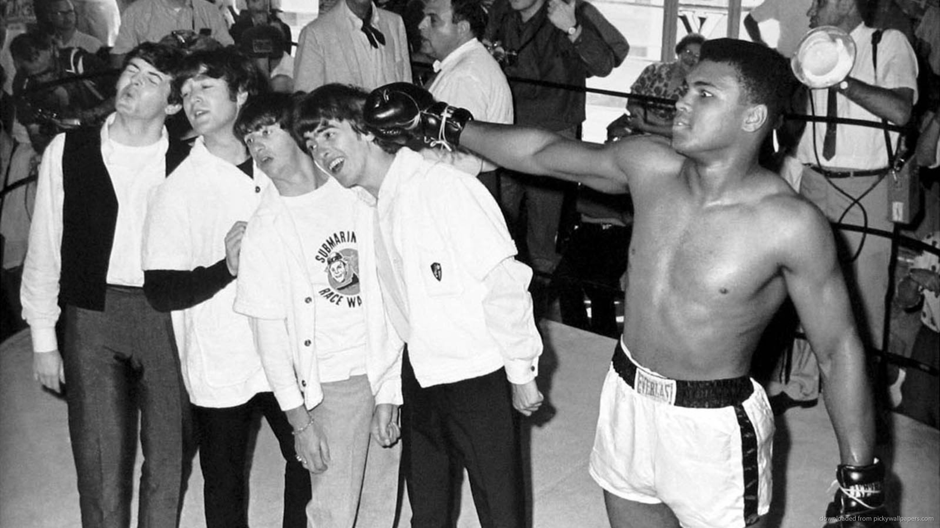 Download 1920x1080 The Beatles With Muhammad Ali Wallpaper 1920x1080