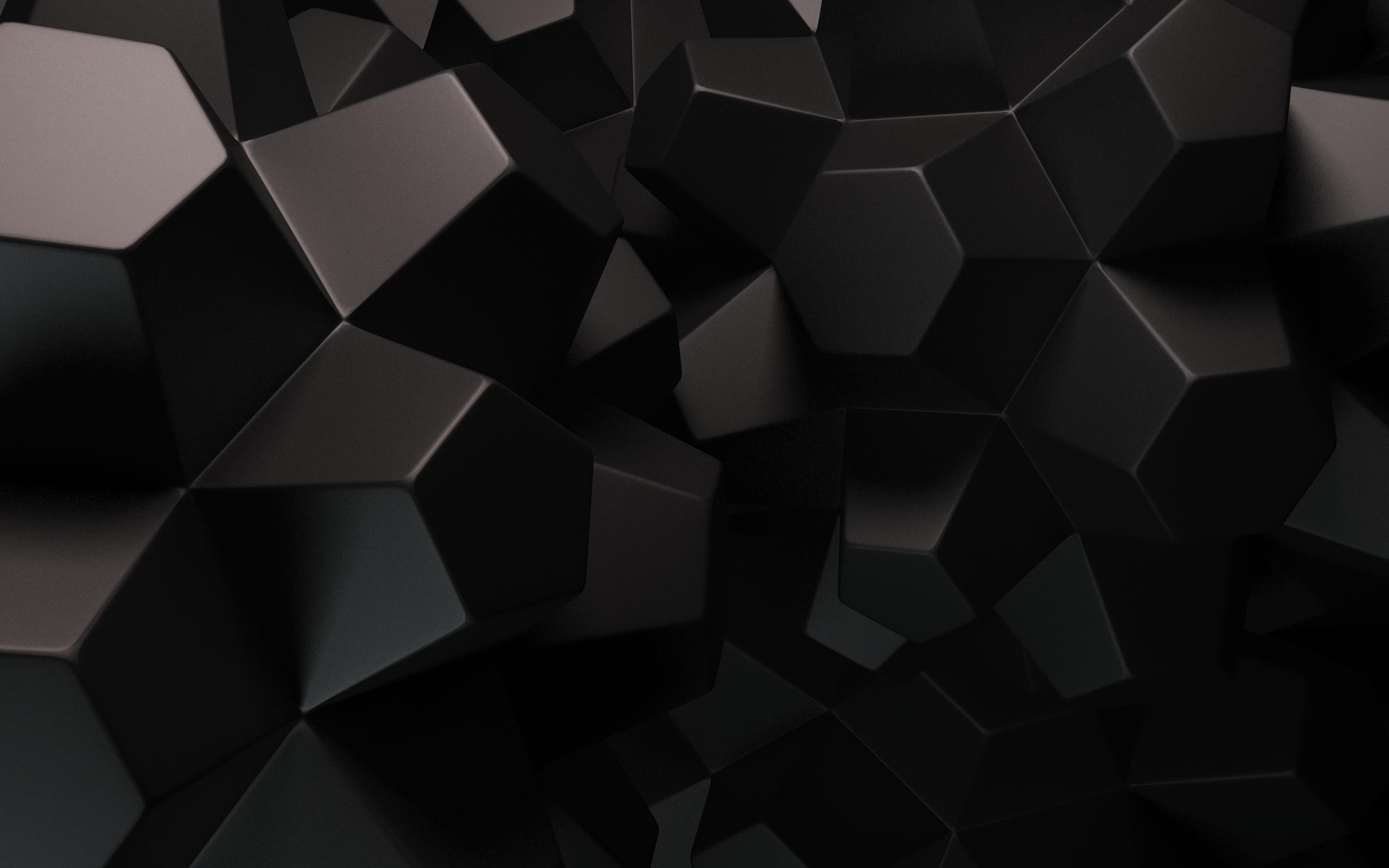 Geometric Wallpaper Black 1 2560x1600