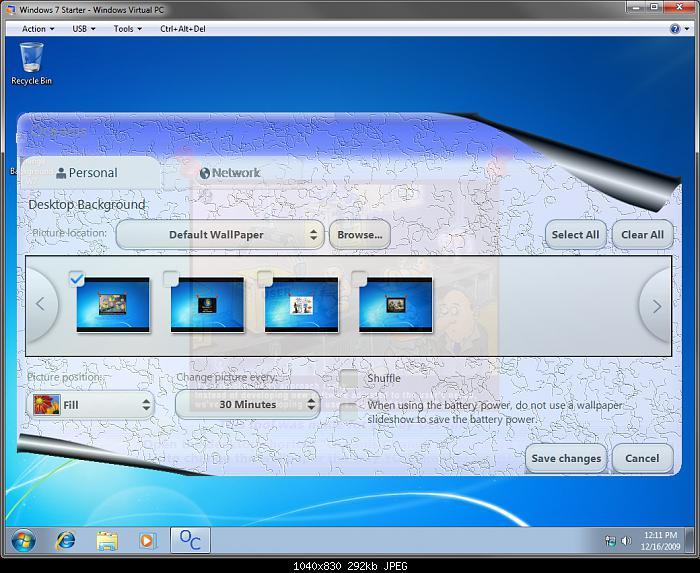 Windows 7 Desktop Background Wallpaper   Change in Windows 7 Starter 700x573