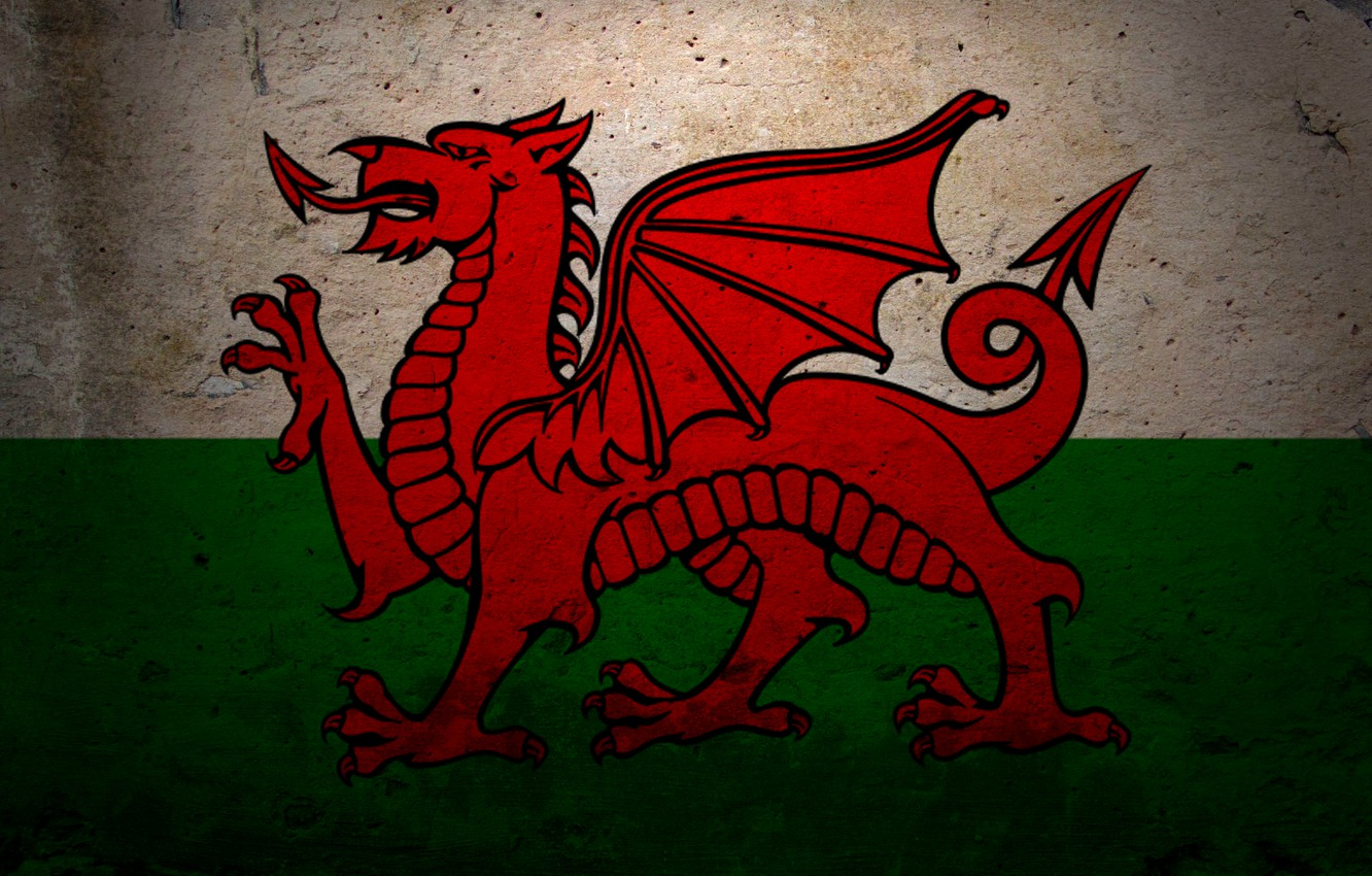 Wallpaper dragon flag coat of arms Wales images for desktop 1332x850