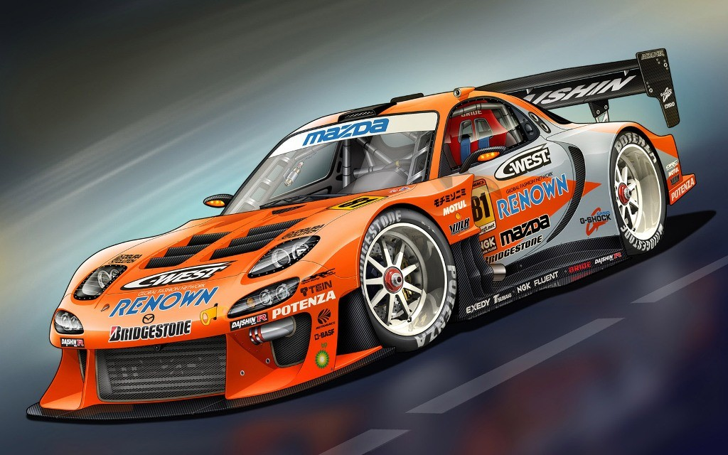 race cars wallpaper Motor Arcade 1024x640