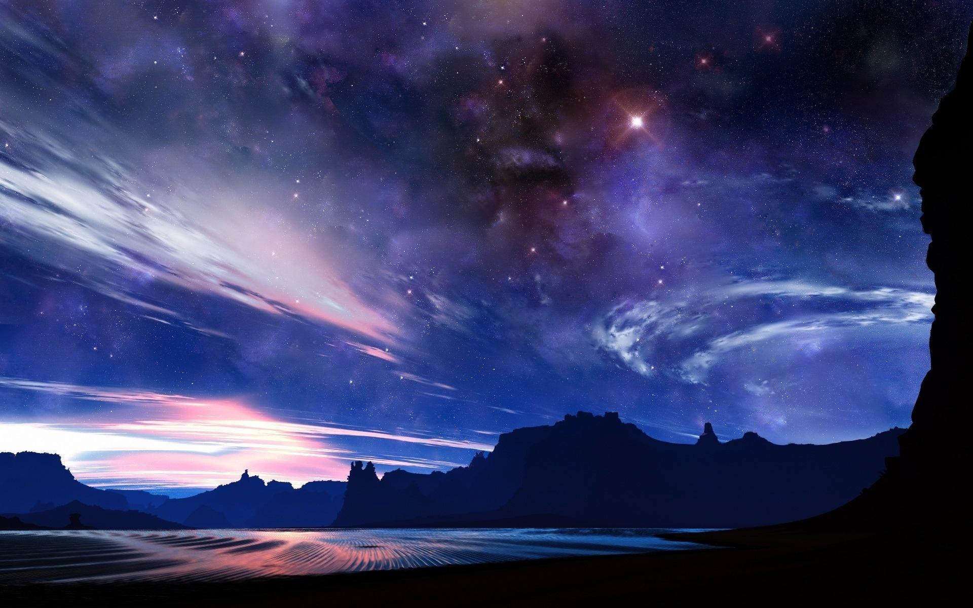 Stars Night Sky Wallpapers Group