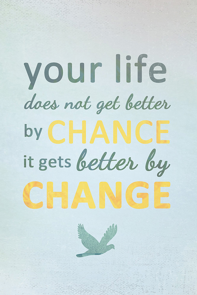 Life Change iPhone Wallpaper HD 640x960