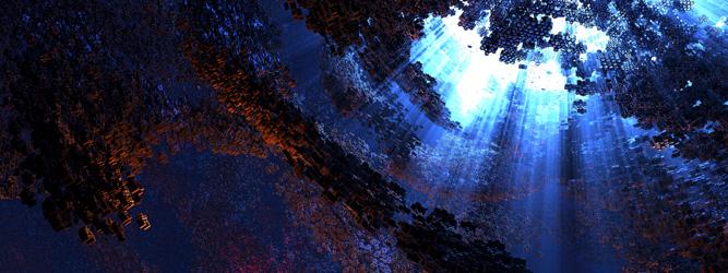 Digital Blasphemy 3D Wallpaper Hivemind Nucleus 2013 by Ryan 667x250