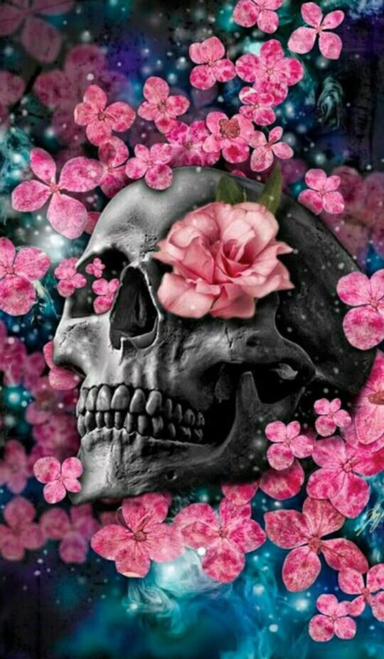 Pin by Ammie Asklund on My apple decor in 2019 Skull wallpaper 540x926