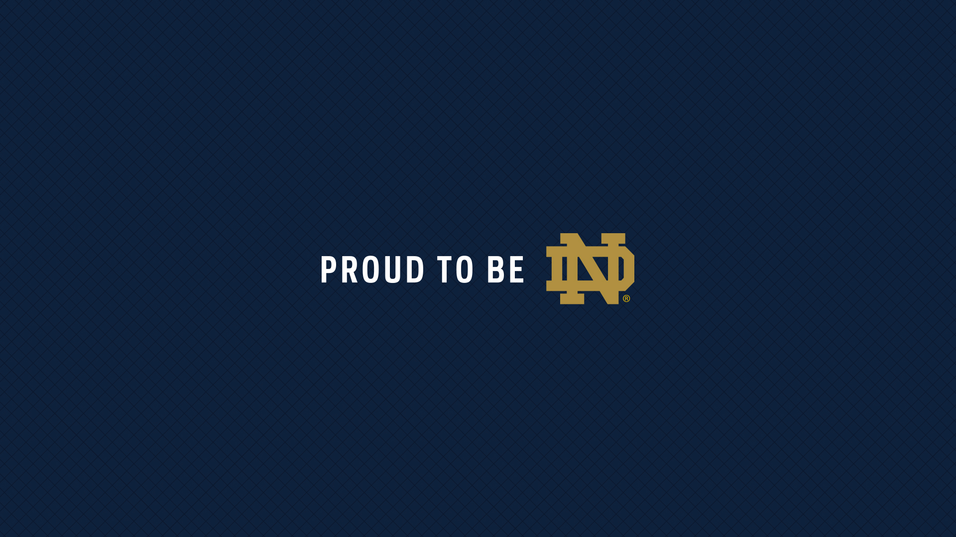 Notre Dame Football Logo   Proud To Be ND Wallpaper for Widescreen 1920x1080