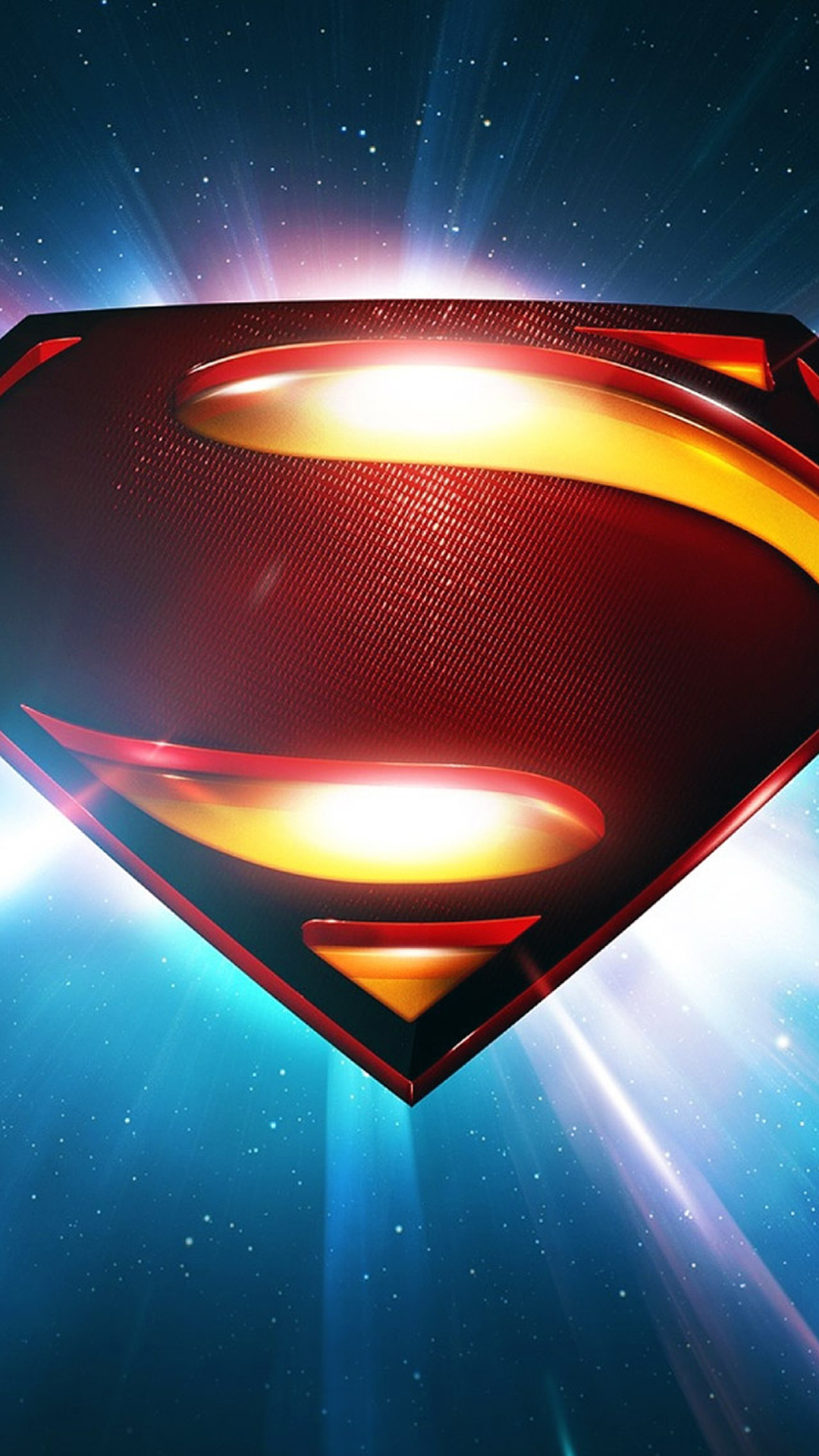 Superman Space Logo Man Of Steel iPhone 6 Wallpaper Download iPhone 1080x1920