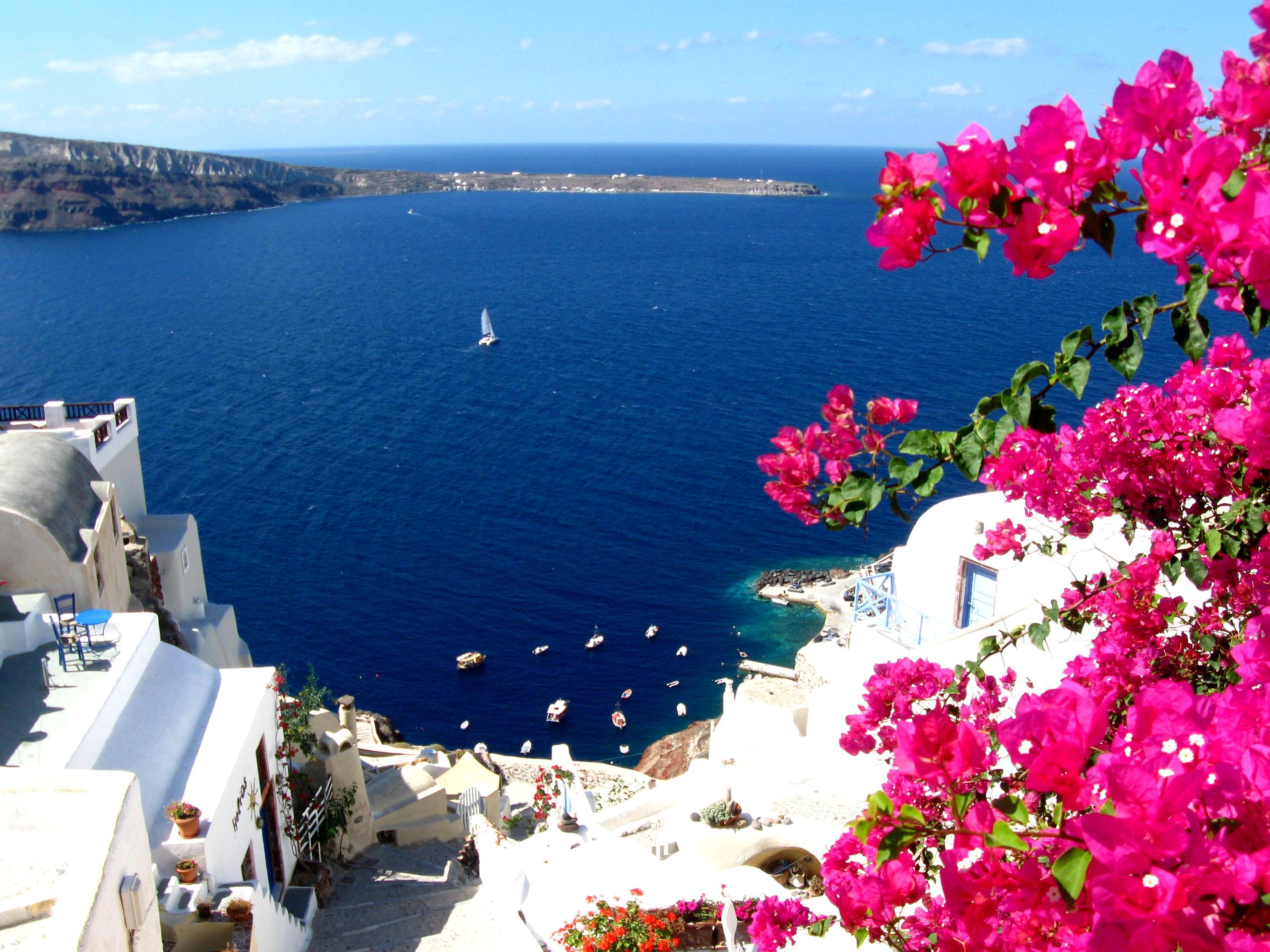 wallpaper santorini greece island - photo #18