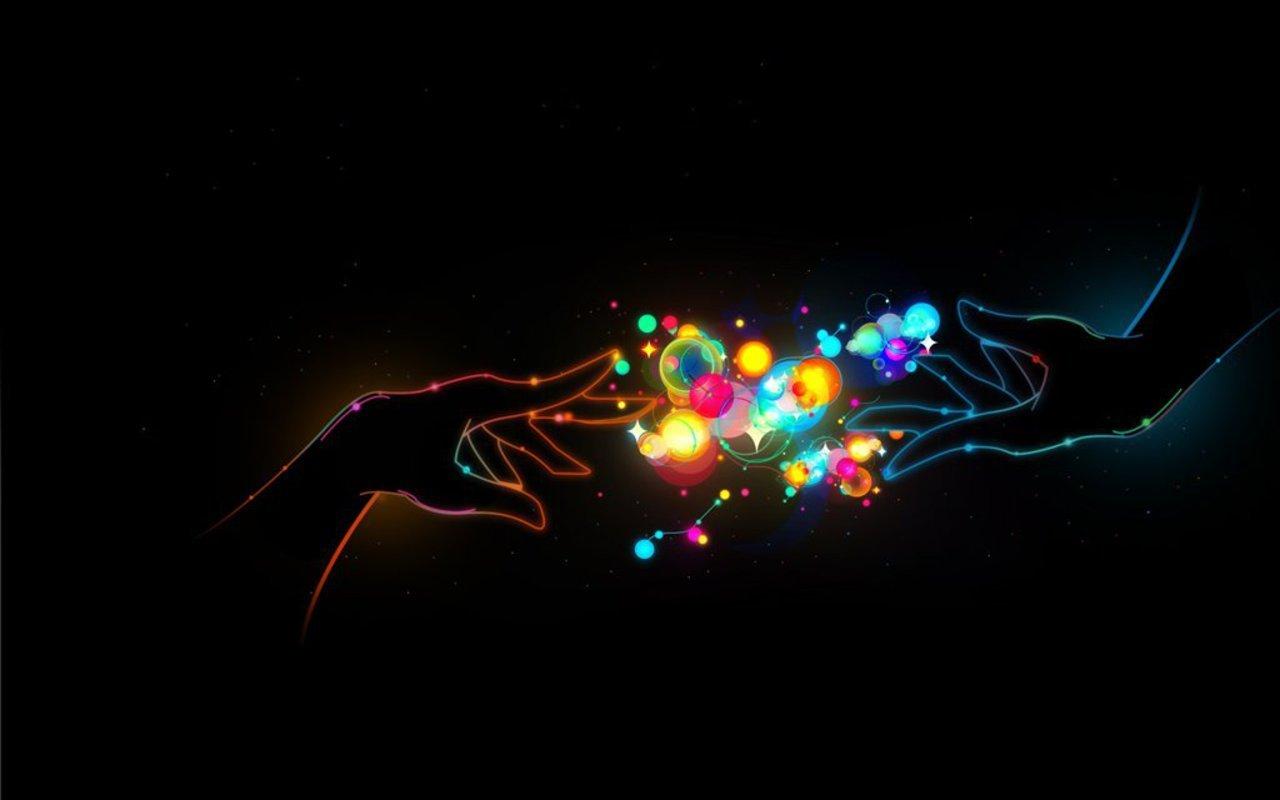 Amazing Hand Neon Wallpaper Desktop 410 Wallpaper with 1280x800 1280x800