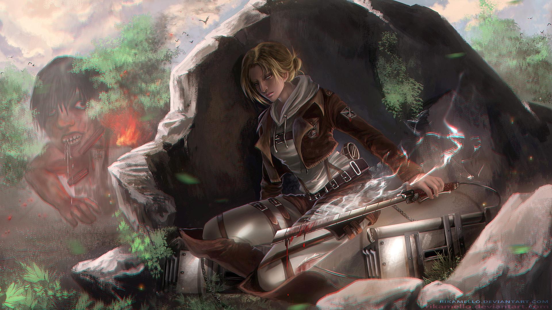 50 Attack On Titan Annie Wallpaper On Wallpapersafari