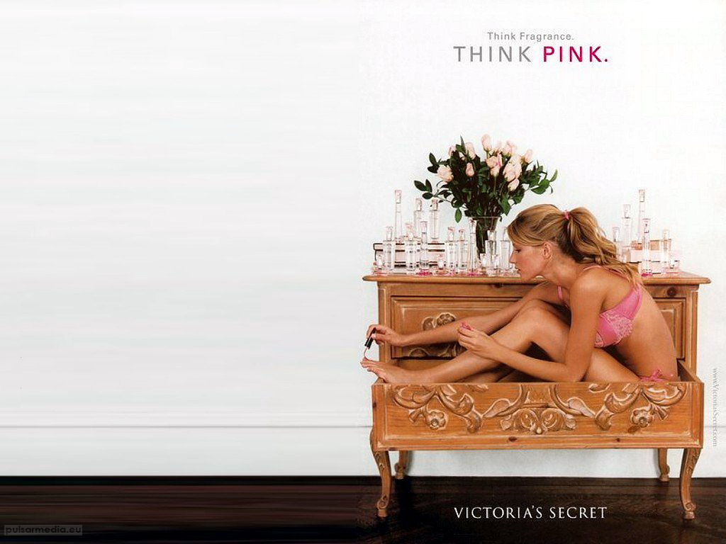 Victorias Secret Create Postcard Victoria Think Pink X Fashion 254502 1024x768