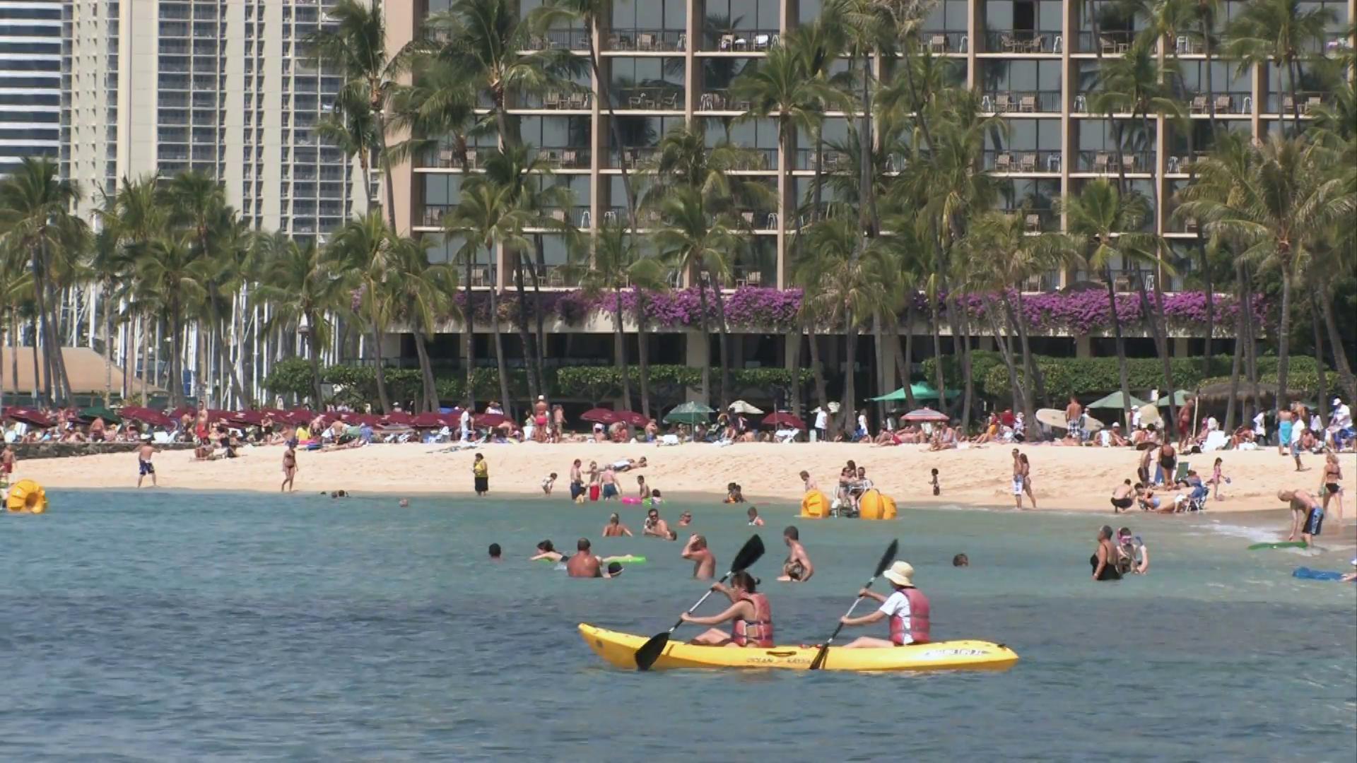 Waikiki Beach ocean kayak M HD Stock Video Footage   Storyblocks Video 1920x1080