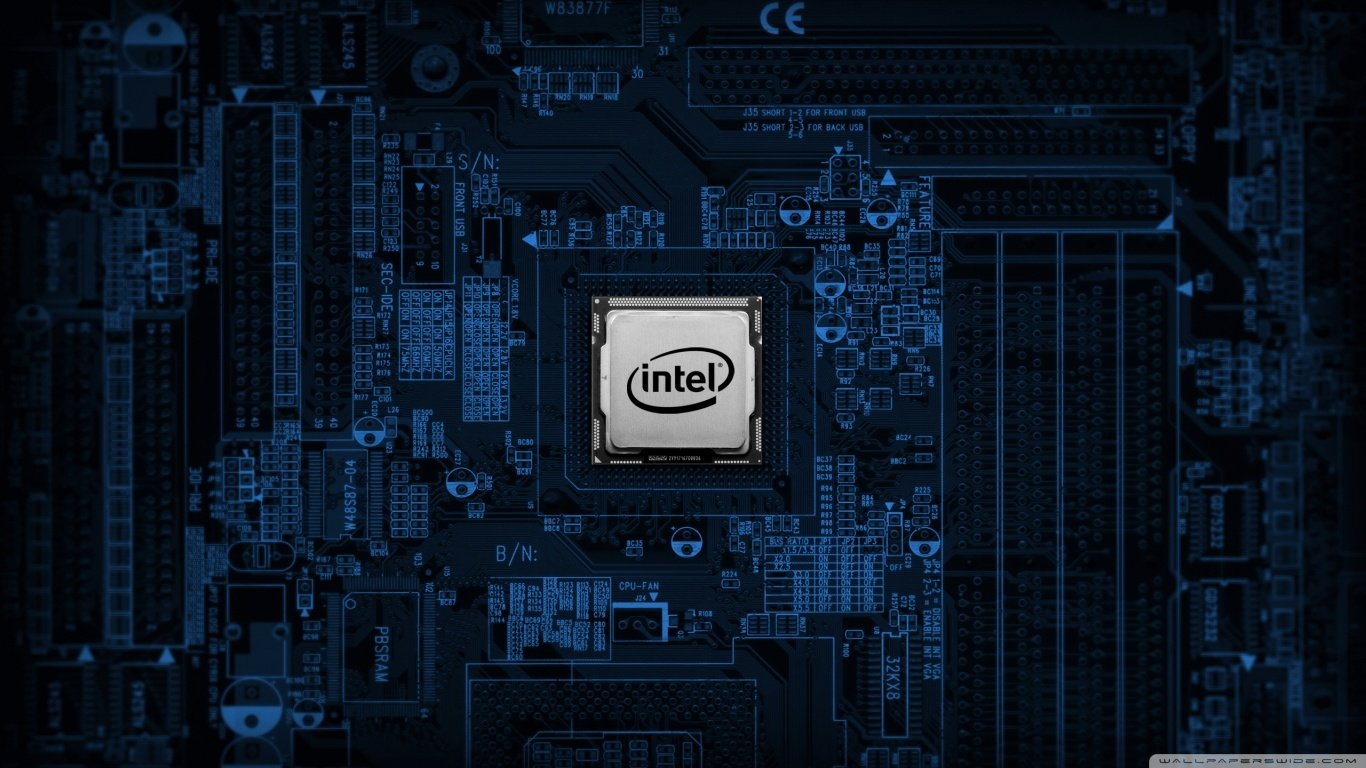 Intel Motherboard 4K HD Desktop Wallpaper for 4K Ultra HD TV 1366x768
