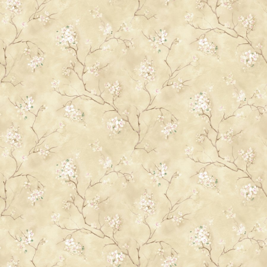 Floral Trail Beige Peelable Vinyl Prepasted Wallpaper Lowes Canada 900x900