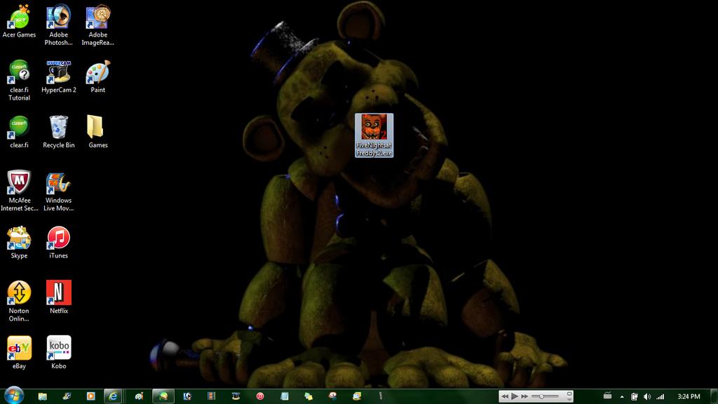 FNAF 2 on my Desktop by CreepypastaGirl1001 1024x576