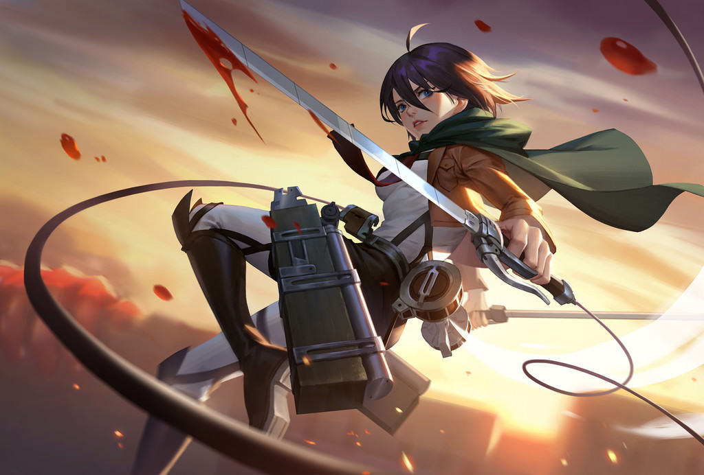 Mikasa Ackerman Attack On Titan Wallpapers   Album on Imgur 1024x692