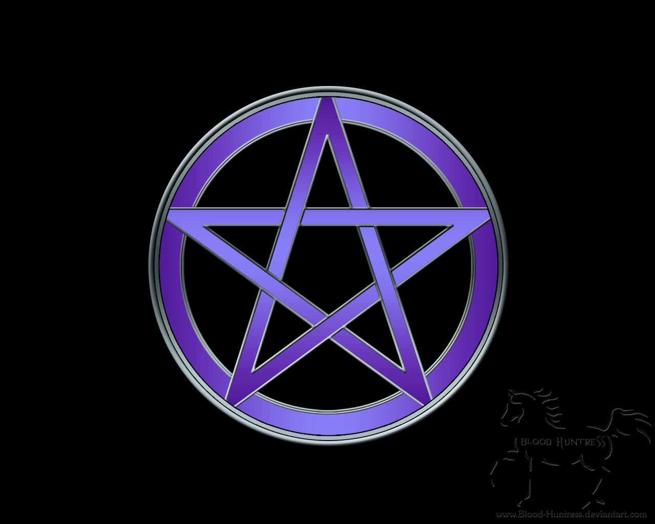 Flames Pentacle Blood Huntress 1280x1024