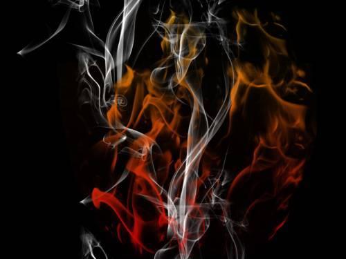 Group of Dark art flames 2D Digital Art Abstract Digital fantasy 500x375