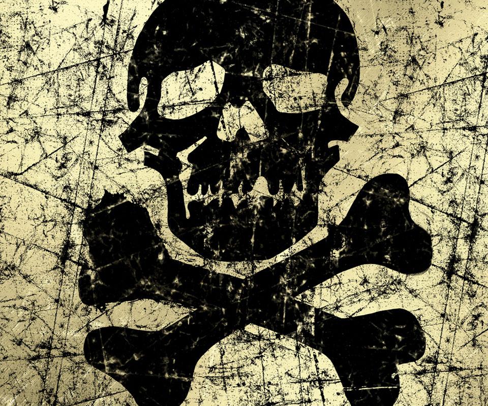 Samsung Galaxy S2 Series Skin   Graffiti Skull and Bones 960x800