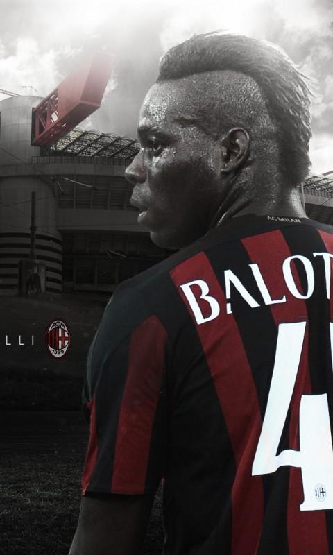 Mario Balotelli AC Milan 20152016 Wallpaper   Football Wallpapers HD 480x800