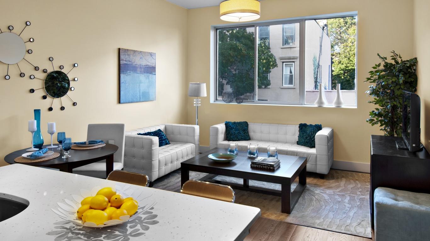 Download Wallpaper 1366x768 interior design style design city 1366x768