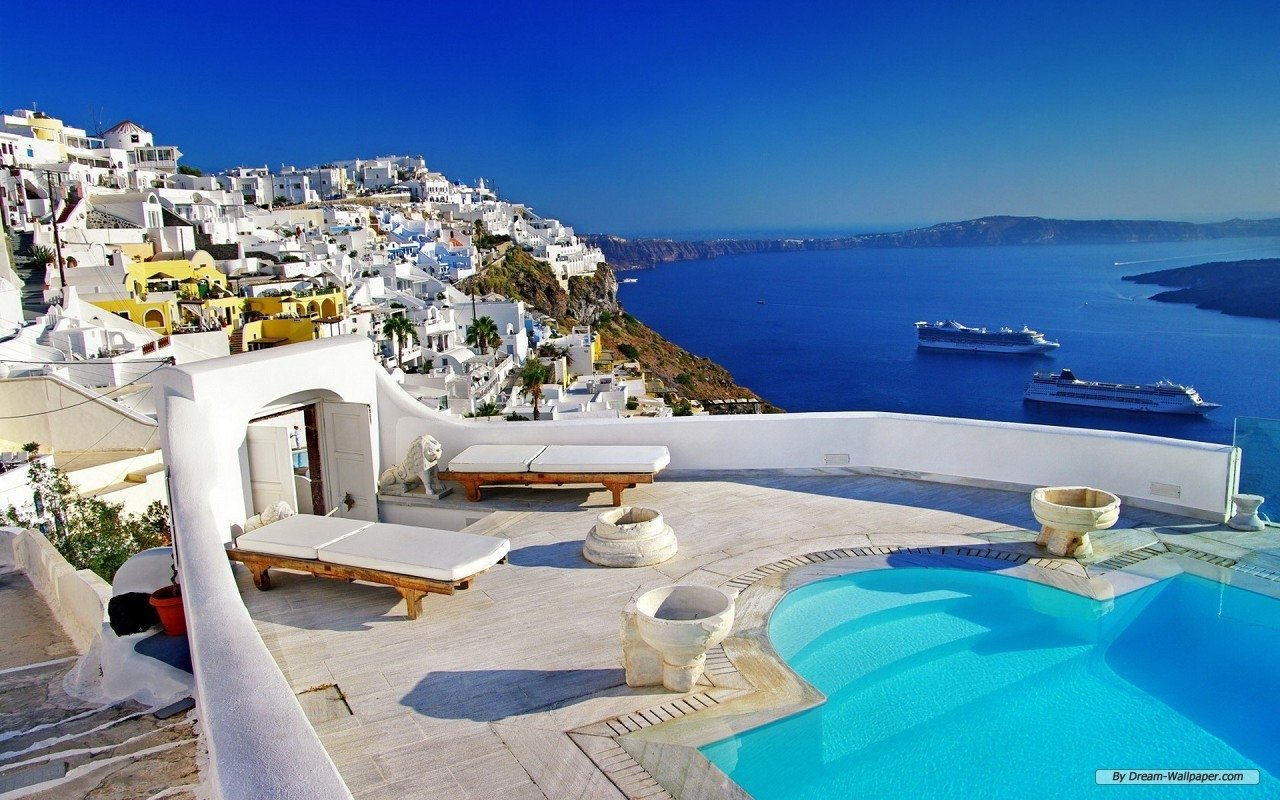 62 Santorini HD Wallpapers Background Images 1280x800