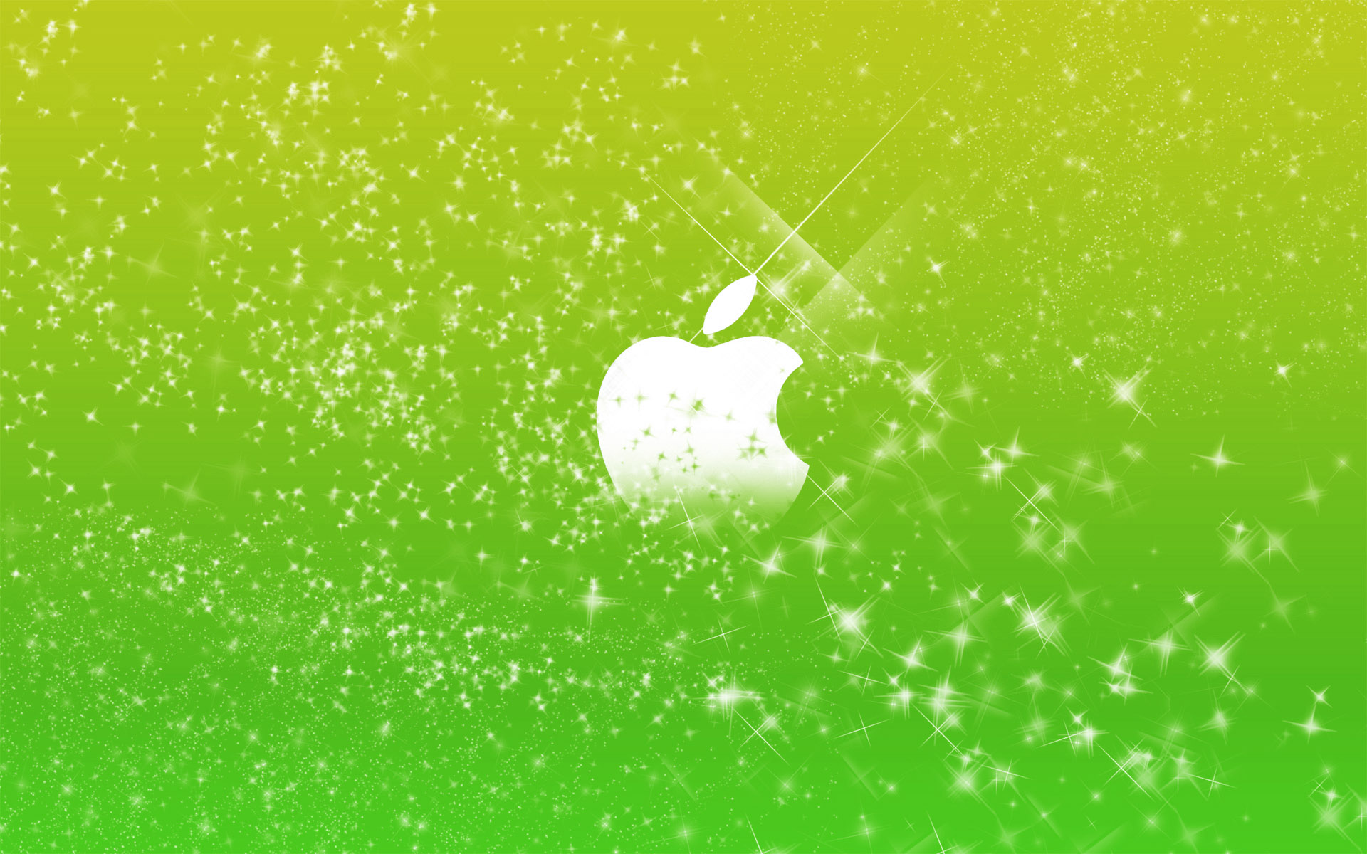 Apple Logo in Green Glitters Wallpapers HD Wallpapers 1920x1200