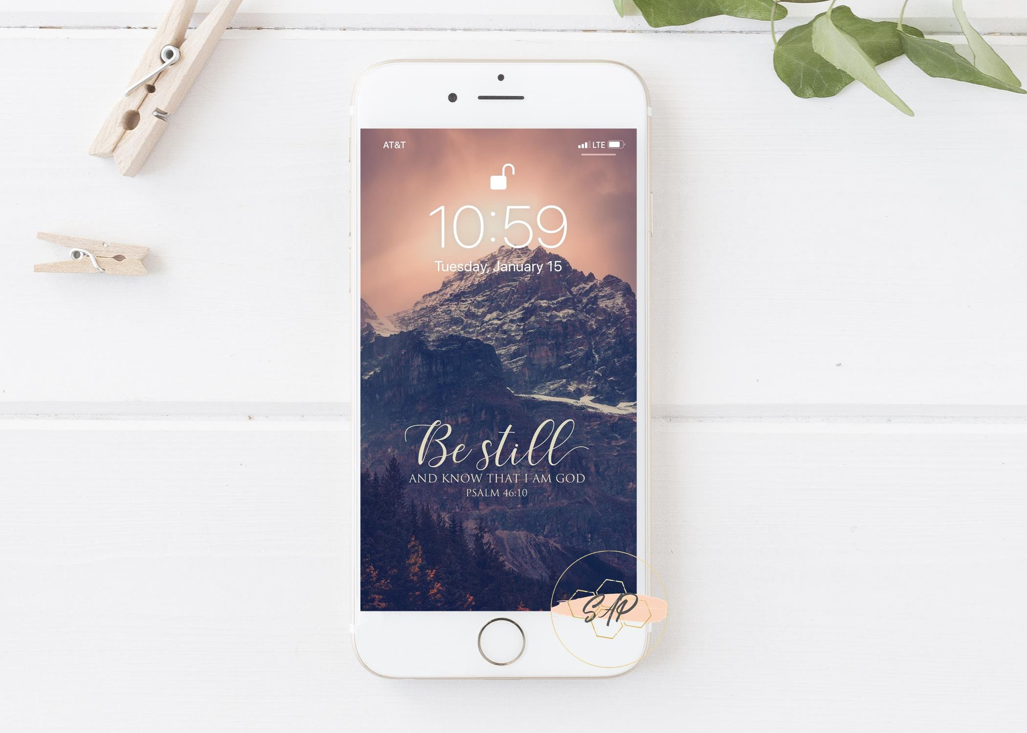 Be Still and Know that I Am God iPhone Lock Screen iPhone Etsy 2100x1500