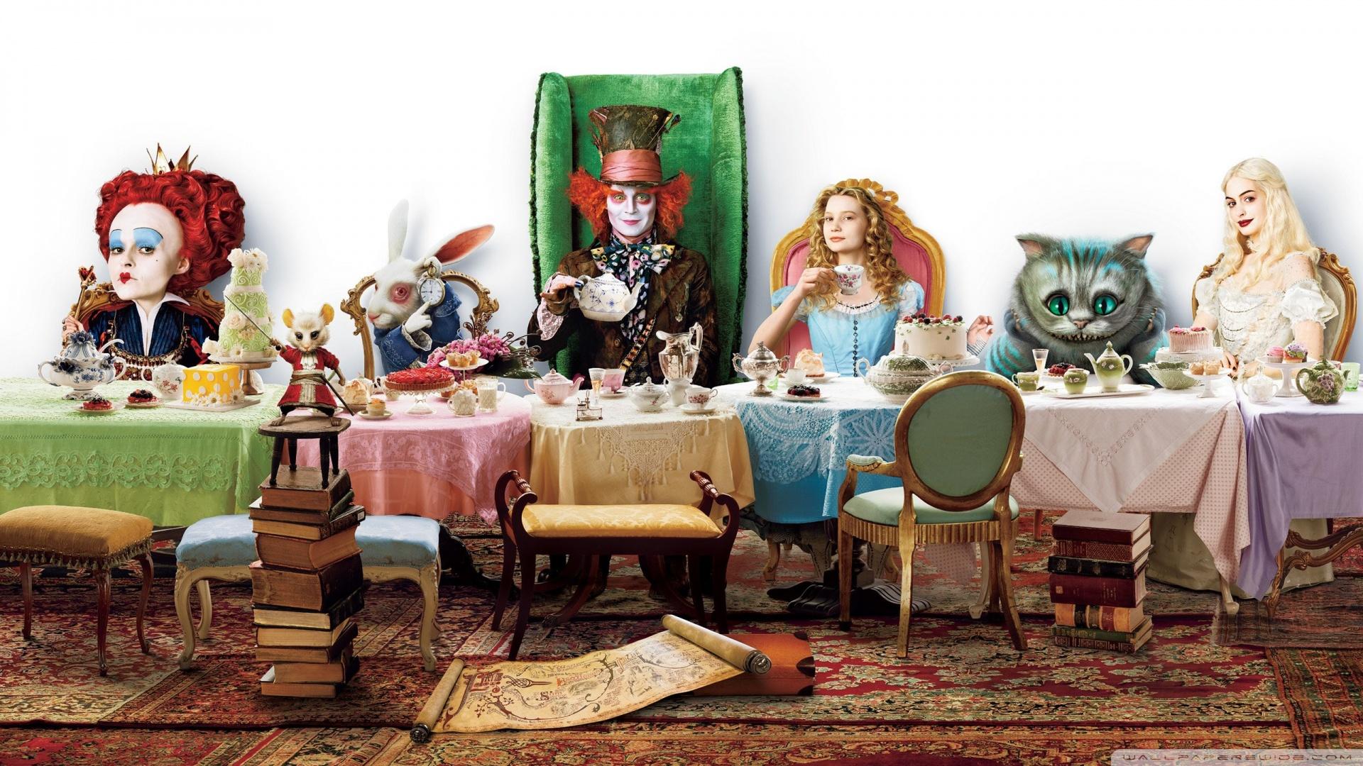 tea party wallpaper wallpapersafari. Black Bedroom Furniture Sets. Home Design Ideas