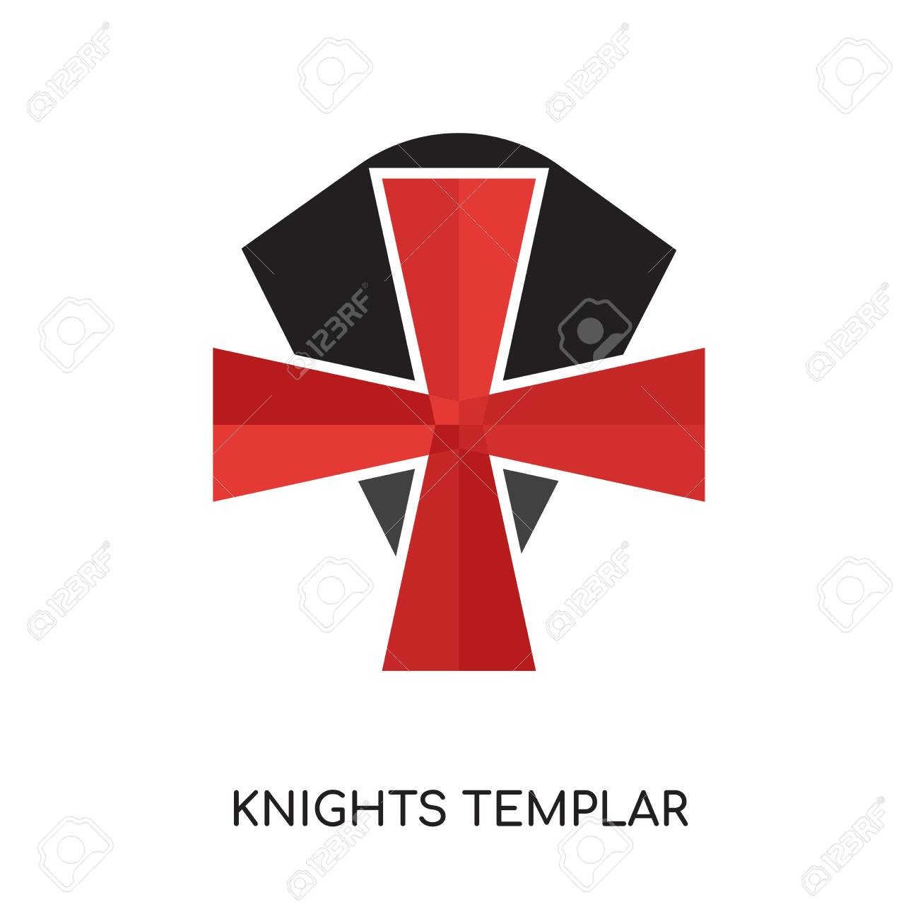 Knights Templar Logo Isolated On White Background For Your Web 1299x1300